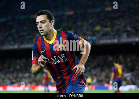 Barcelona, Spain. © D. 20th Apr, 2014. Xavi (Barcelona) Football/Soccer : Spanish Primera Division 'Liga BBVA' match - Stock Photo