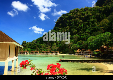 Lagen Island Resort, El Nido, Palawan, the Philippines - Stock Photo