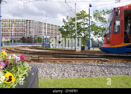 Park Square Bridge & Supertram Tram Tracks, Sheffield, UK 22 June ...