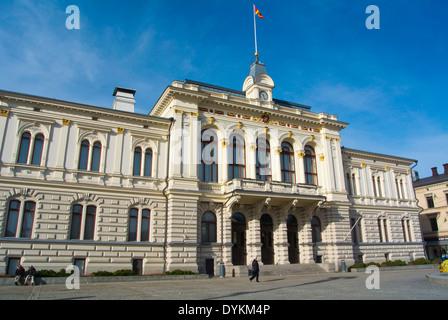 Tampereen raatihuone, town hall in neo-renaissance style (1890), Keskustori square, Tampere, central Finland, Europe - Stock Photo