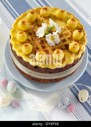 Simnel cake - Stock Photo