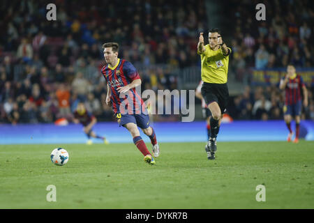 Barcelona, Spain. 20th Apr, 2014. BARCELONA-SPAIN -APRI 20: Lionel Messi during the match between FC Barcelona and - Stock Photo