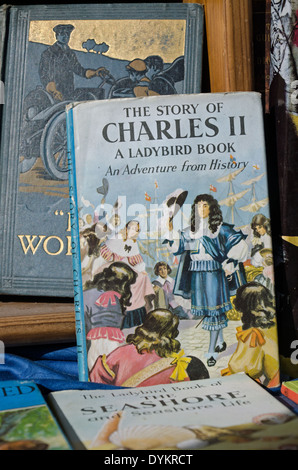 The Story of Charles II, a Ladybird Book, on display in a secondhand bookshop. - Stock Photo