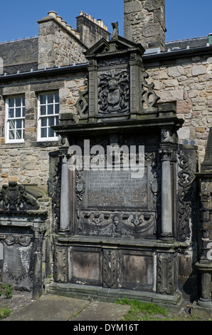 Tomb of Sir Robert Dennistoun of Mountjoy, 1626 King's Ambassador and Conservator of the Scottish Privileges in - Stock Photo