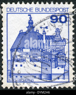 GERMANY - CIRCA 1979: Postage stamp printed in Germany, shows Vischering Castle, circa 1979 - Stock Photo