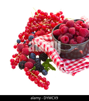 Ripe  of rasberry and other  berries - Stock Photo