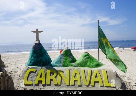 Rio de Janeiro, Copacabana, Carnaval, Brazil - Stock Photo