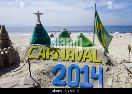 Rio de Janeiro, Copacabana, Carnaval 2014, Brazil - Stock Photo