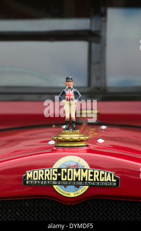 John bull hood ornament on a vintage Morris Commercial lorry - Stock Photo