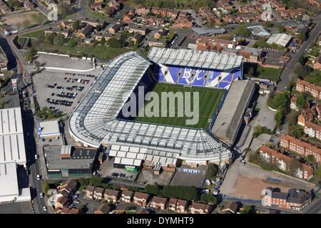 aerial view of Birmingham City FC football ground St Andrew's stadium - Stock Photo
