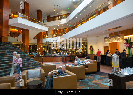 Sydney Australia NSW New South Wales CBD Central Business District Four Seasons Hotel hotel lobby inside interior - Stock Photo