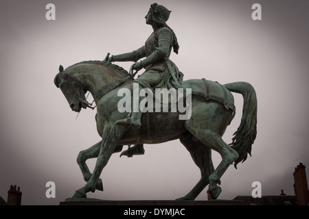 Statue of Joan of Arc in Orleans, France - Stock Photo