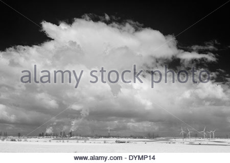 Frimmersdorf and Neurath charcoal ignite power plants - Stock Photo