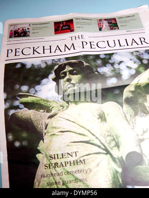 The Peckham Peculiar is a free local newspaper in south east London - Stock Photo