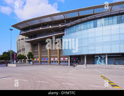 Estadi del F.C. Barcelona - Camp Nou - a football stadium in Barcelona, Catalonia, Spain - Stock Photo