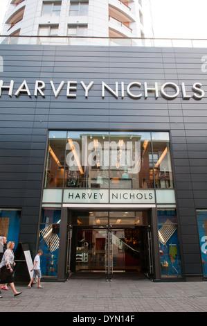 Upmarket Harvey Nichols regional store in the Cabot Circus shopping development in Bristol, England - Stock Photo