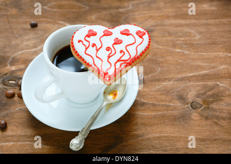 cup of black coffee, food - Stock Photo