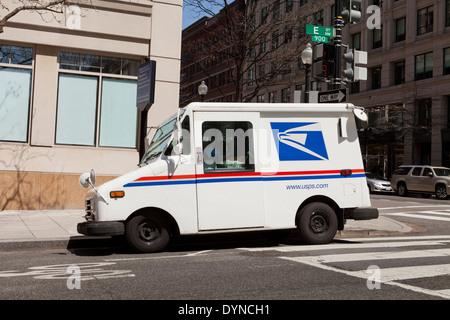 US Postal Service delivery truck - Washington, DC USA - Stock Photo