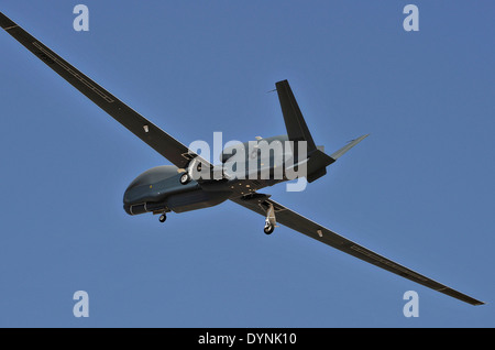 Northrop Grumman Corporation's RQ-4B Global Hawk unmanned aircraft system during flight testing July 21, 2008 at - Stock Photo