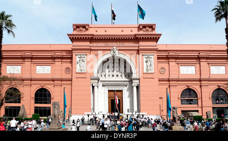 The Egyptian Museum of Cairo.View of main entrance. - Stock Photo