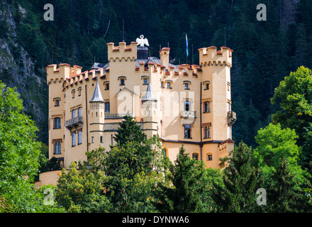 Bavaria, Germany. Schloss Hohenschwangau Castle, 19th-century palace in southern Germany. - Stock Photo