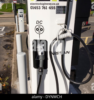 Electric vehicle charge point by ecotricity at Welcome Break, Membury Services on M4, Berkshire, UK