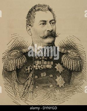 Mikhail Loris-Melikov (1826-1888). Russian-Armenian statesman. Engraving. The Spanish and American Illustration, - Stock Photo