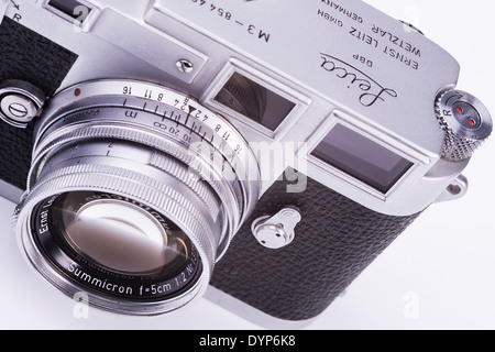 Old Leica M3 camera - Stock Photo