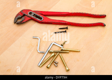 Some working tools ready to fix something. - Stock Photo