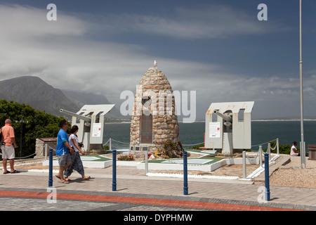 The War Memorial in Hermanus, Western Cape, South Africa - Stock Photo
