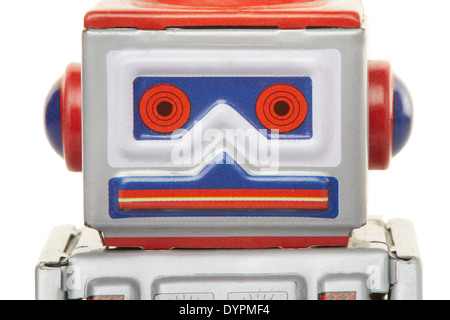 Robot vintage toy close up - Stock Photo