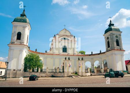 Tykocin Town - baroque Church of the Holy Trinity - Stock Photo