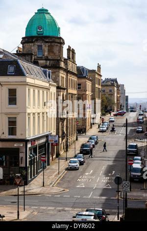 Douglas Street, Glasgow, Scotland, UK at it's intersection with Sauchiehall Street - Stock Photo