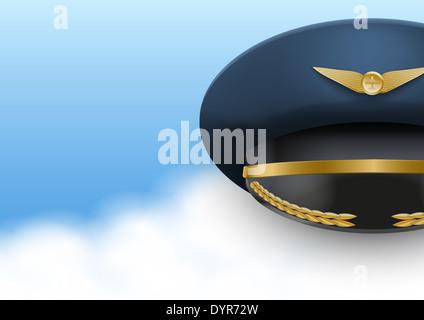 Aviator Peaked cap of the pilot. - Stock Photo