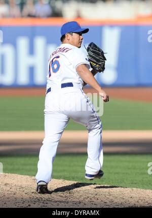 Flushing, NY, USA. 20th Apr, 2014. Daisuke Matsuzaka (Mets) MLB : Daisuke Matsuzaka of the New York Mets during - Stock Photo