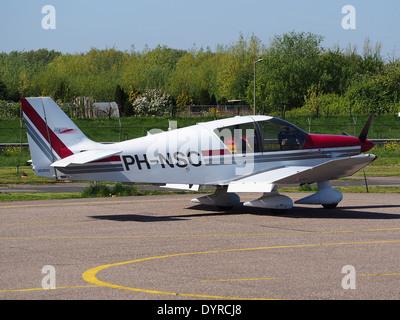 PH-NSC Untitled Robin DR-400-140B EcoFlyer at Rotterdam The Hague Airport (RTM - EHRD) - Stock Photo