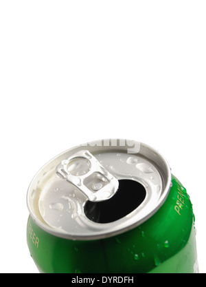 This is Aluminum can isolated on white background - Stock Photo