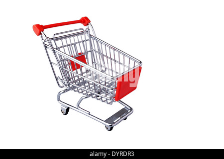 This is shopping cart isolated on white - Stock Photo