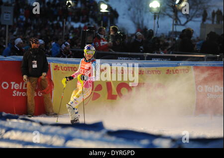 Lindsey Vonn at the FIS Alpine Ski World Cup in Munich, 2011 - Stock Photo
