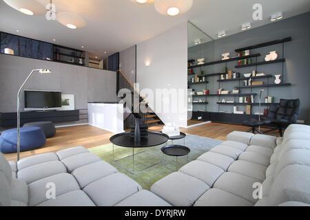 The luxury residential complex 'Lenbach Gaerten' in Munich, 2012 - Stock Photo