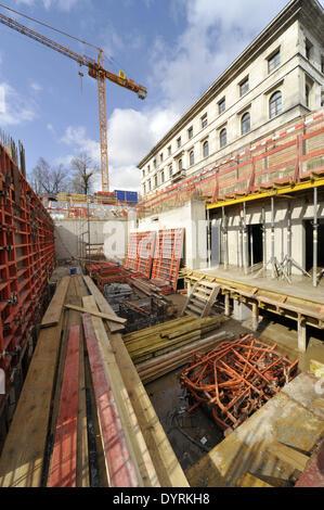 Construction site of the NS-Dokumentationszentrum in Munich, 2012 - Stock Photo