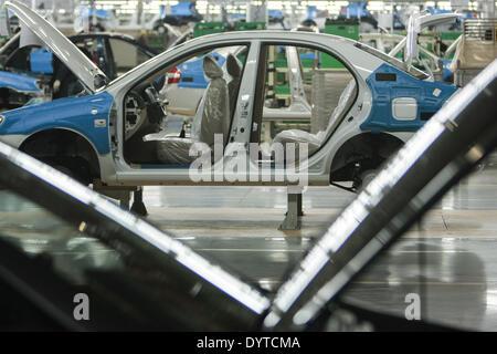Vehicles are assembled at Kia Motors Corp - Stock Photo