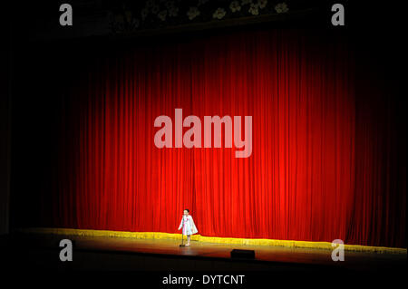 Girl on stage - Stock Photo