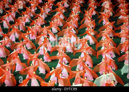Arirang Mass Games in Pyongyang - Stock Photo