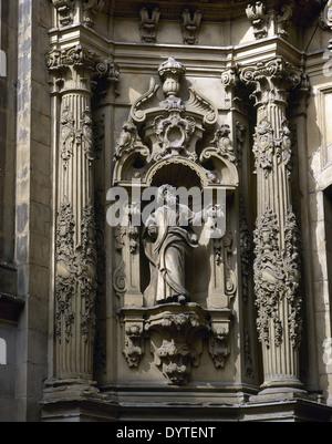 Spain. Basque Country. San Sebastian. Basilia of Saint Mary of the Chorus. Baroque. Detail. - Stock Photo