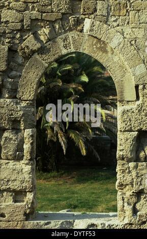 The Temple of Apollo at Syracuse / Sicily 1999 - Stock Photo