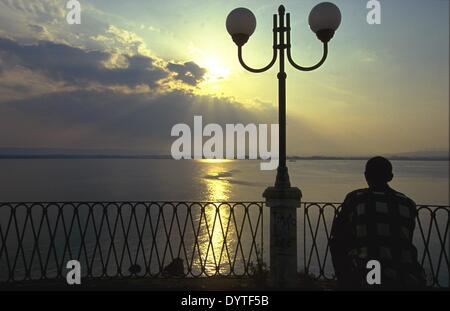 Evening mood in Syracuse / Sicily 1999 - Stock Photo