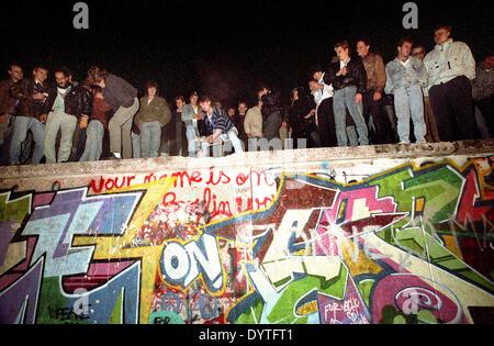 Fall of the Berlin Wall, 1989 - Stock Photo