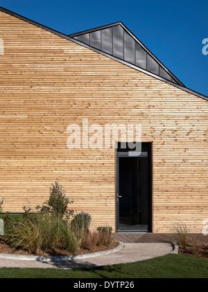 Exterior of Maison Air et Lumiere, Verrieres-le-Buisson, France - Stock Photo