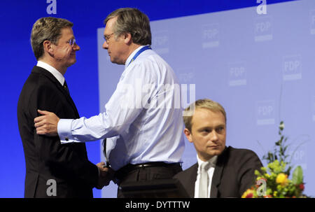 Guido Westerwelle and Gerhardt - Stock Photo